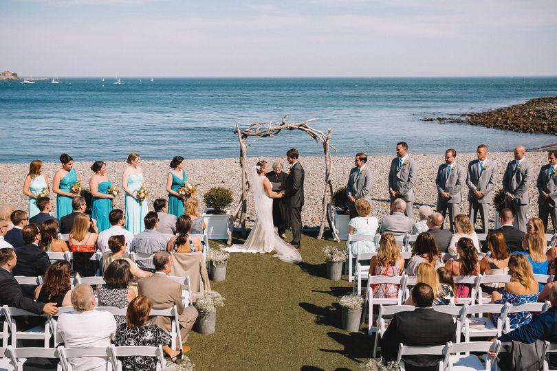 Beach Stone Terrace Ceremony