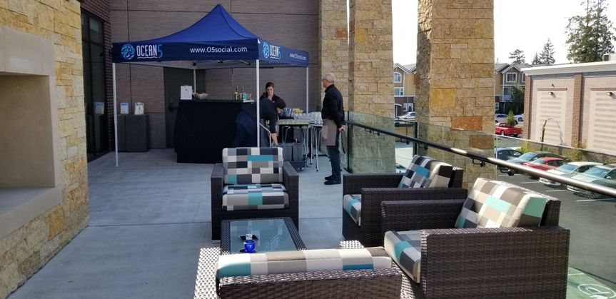 Outside Patio with Private Bar