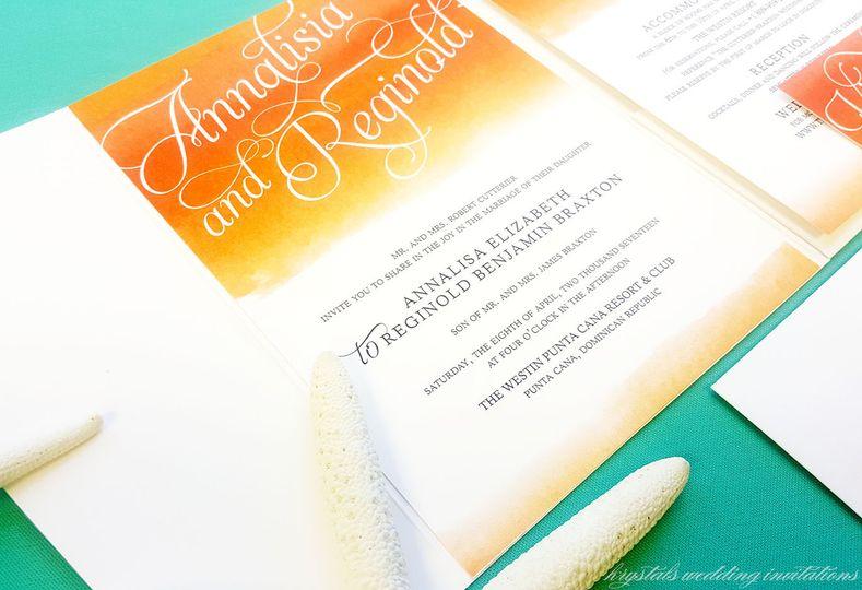 Krystals Wedding Invitations Invitations Anaheim CA WeddingWire