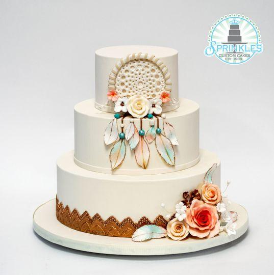 Sprinkles Custom Cakes Wedding Cake Winter Park Fl Weddingwire