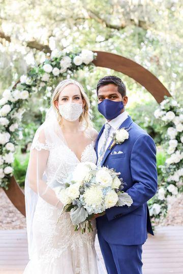 COVID-19 wedding masks
