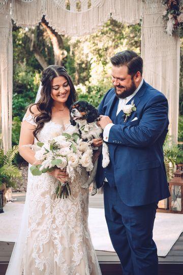Pet friendly wedding venue