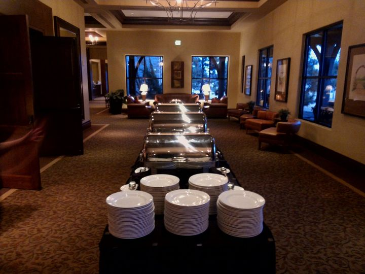 Example of buffet set-up