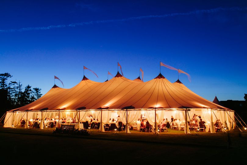 A well lighted tent