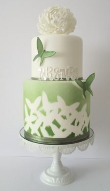 Green themed cake
