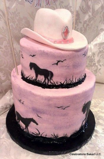 Pink hand painted with animal silhouettes