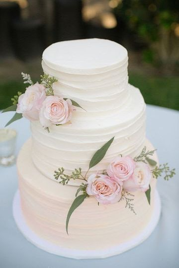 Simple textured cake