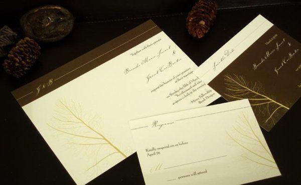 A Fall themed wedding invitation collection for a modern bride.