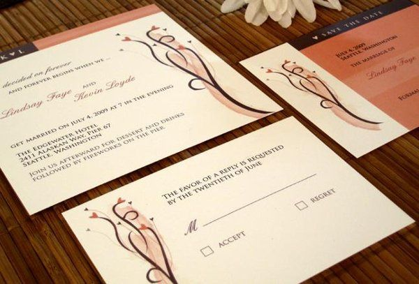 This heart themed wedding invitation collection is modern and original. Perfect for today's stylish...