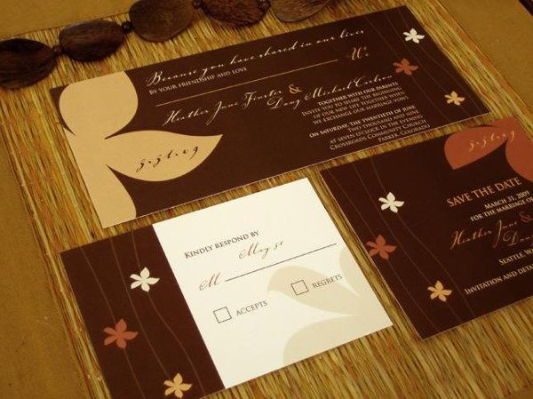 This chic wedding invitation collection works for any season. Customize colors fonts and wording...