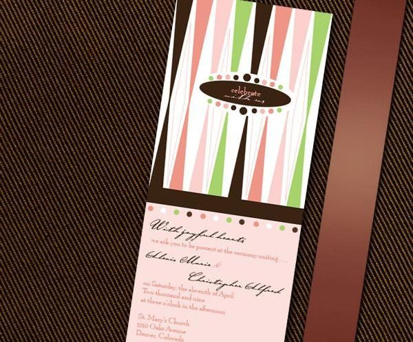 Tmx 1232313018875 BrendaInvite Parker wedding invitation
