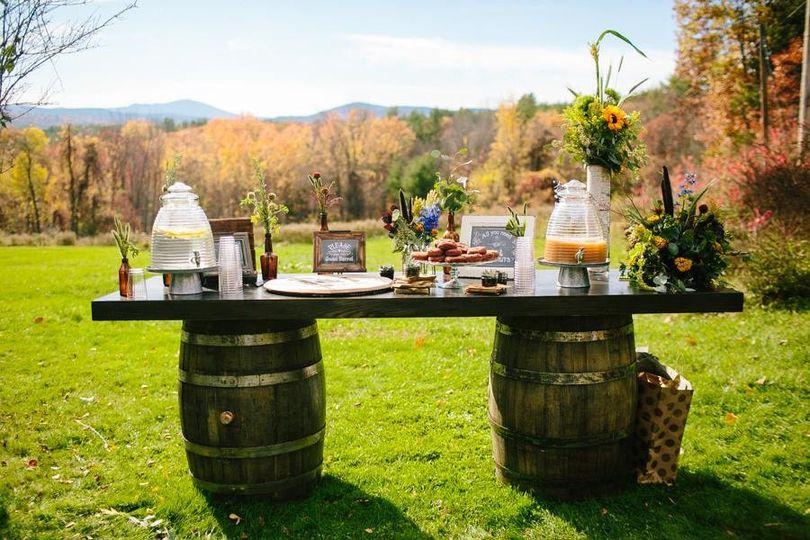 Wine Barrel Bar or dessert table