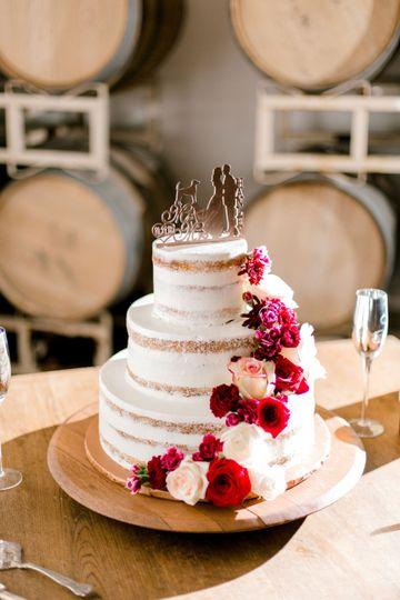 Cake in barrel room