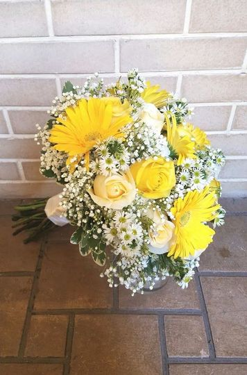 Bouquet with Gerbara Daisies
