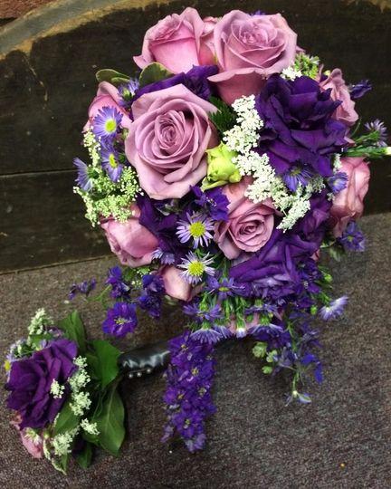 Purples and wilflowers