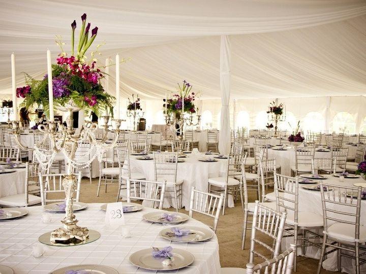 Tent wedding reception area