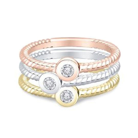 Trio diamond stackable ring