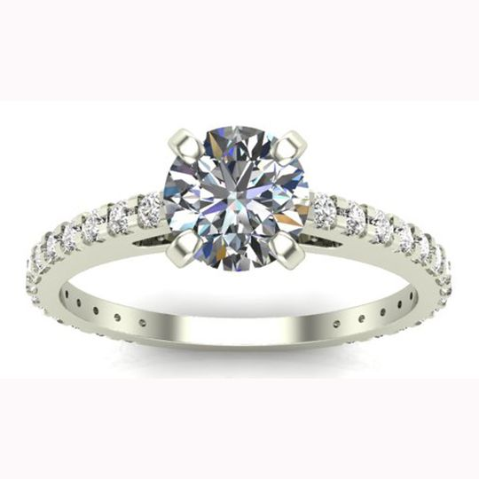Gold round diamond solitaire