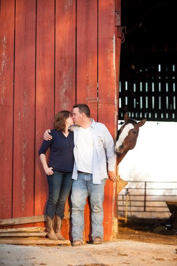southern illinois engagement horse