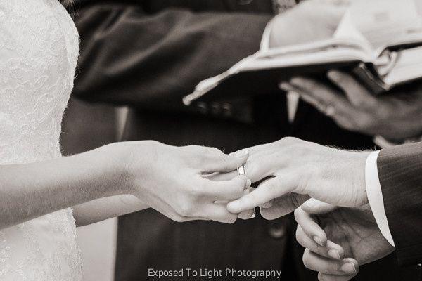 Ring exchange during Minneapolis wedding.
