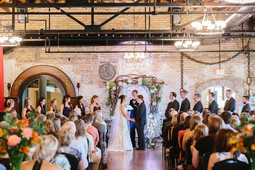 Wedding ceremony at the  Kellerman's Event Center in White Bear Lake, Minnesota.