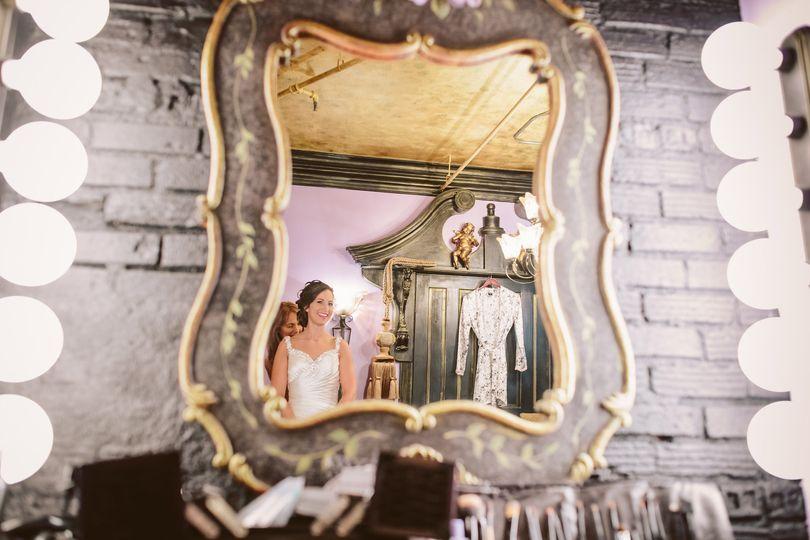 Bride getting ready at Kellerman's Event Center White Bear Lake, Minnesota.