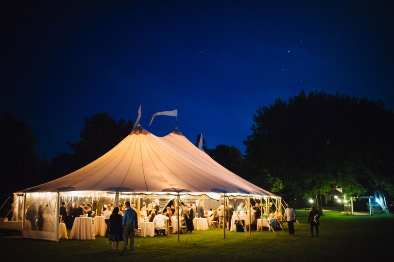 Illuminated tent