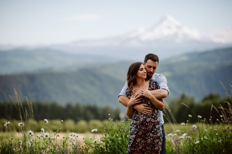 Mt Hood engagement session