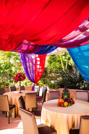 Colorful venue decor