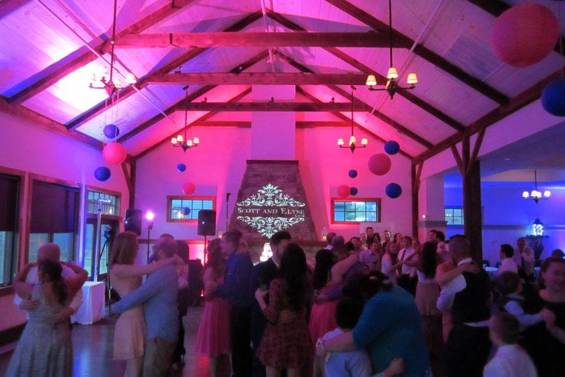 Event lighting at Crissey Farm in Great Barrington, Mass.