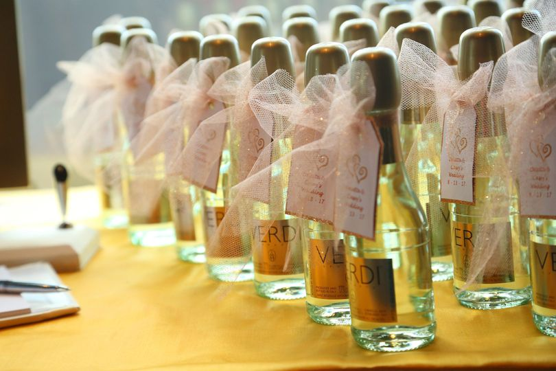 Bottles of wedding favor