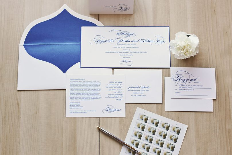 Calligraphic invitation