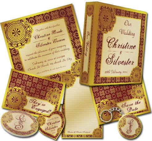 Arabesque Gold Lace -customizable colours and texts