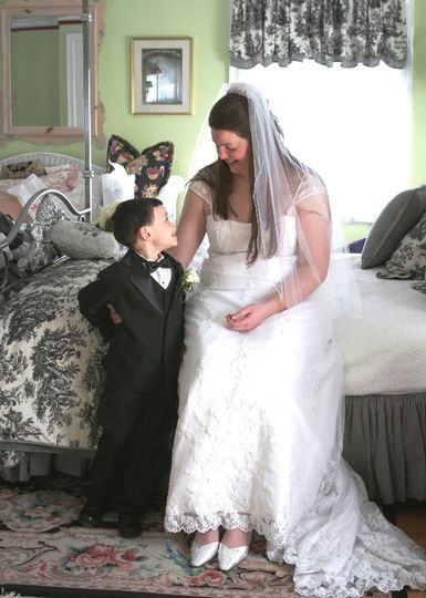Bride and boy