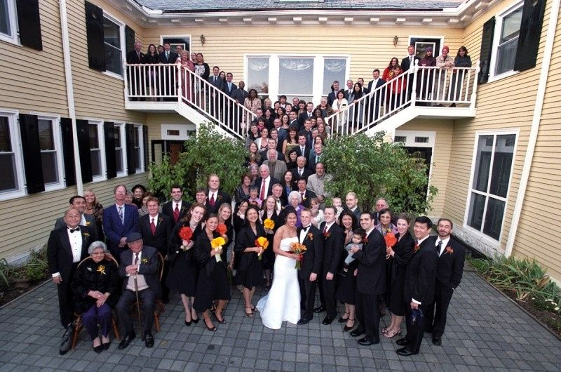 Newlyweds and all their guests