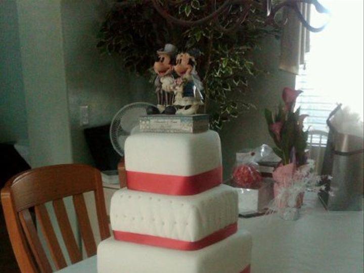 Tmx 1278459777324 WCredribbonmickeyminnie Fontana wedding cake