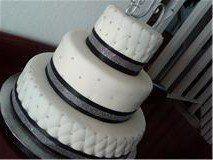 Tmx 1293774796320 Blackandsilvercake Fontana wedding cake