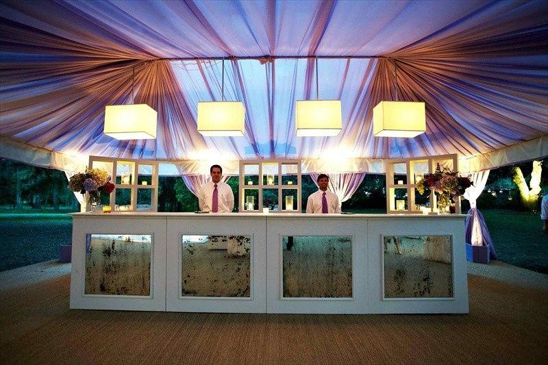 Wedding bar setup