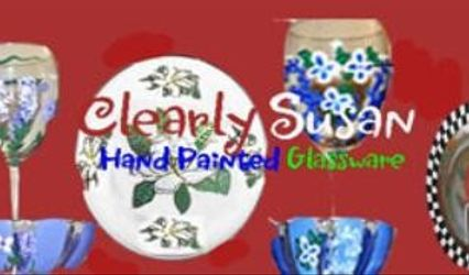 Clearly Susan's Hand painted Glassware