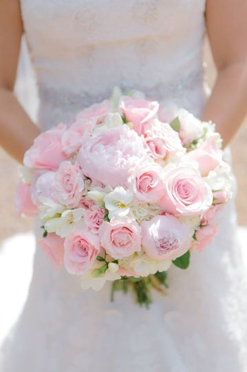 Soft pink and white bouquet