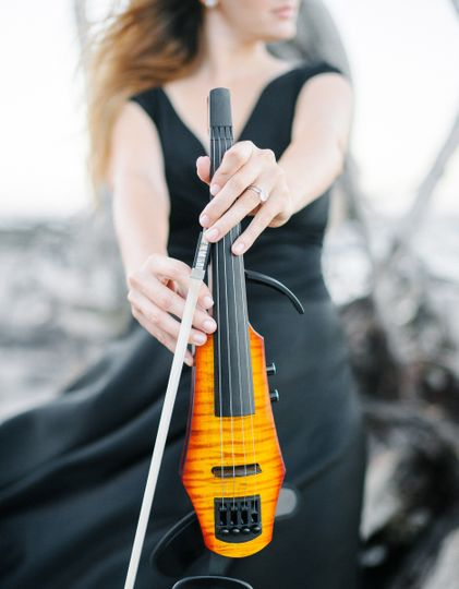 Electric violin performance