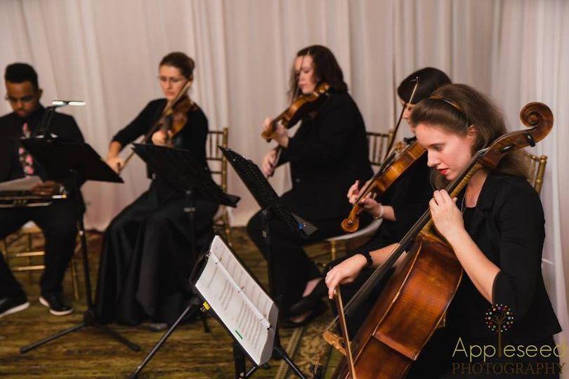 String quartet and trumpet