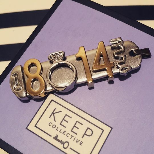 Create a Keeper for your special day and give your brides maids a special one too. Initial or a...