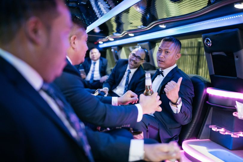 Groom party bus