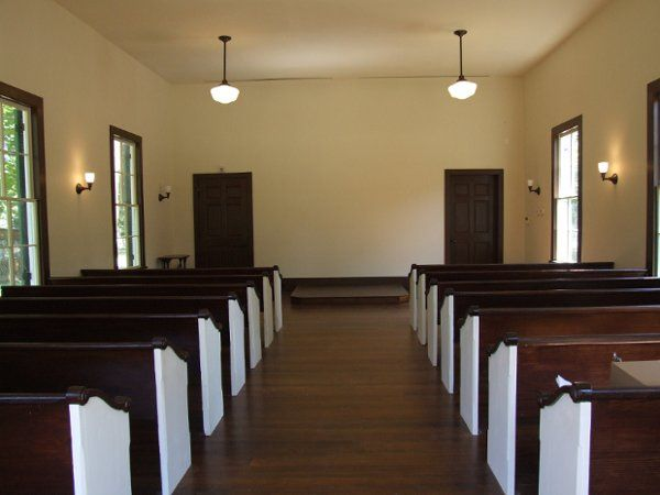 View of church interior.  Seating available for 70-75 individuals, plus the bridal party and...