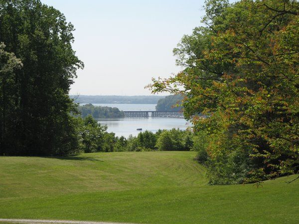This site boasts extensive lawns perfect for tenting and this beautiful view of the Potomac River.
