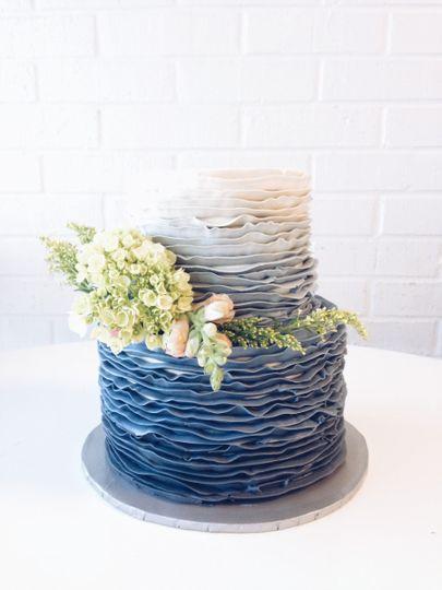 Suarez Bakery Rustic Naked Tiramisu Barn Wedding Cake
