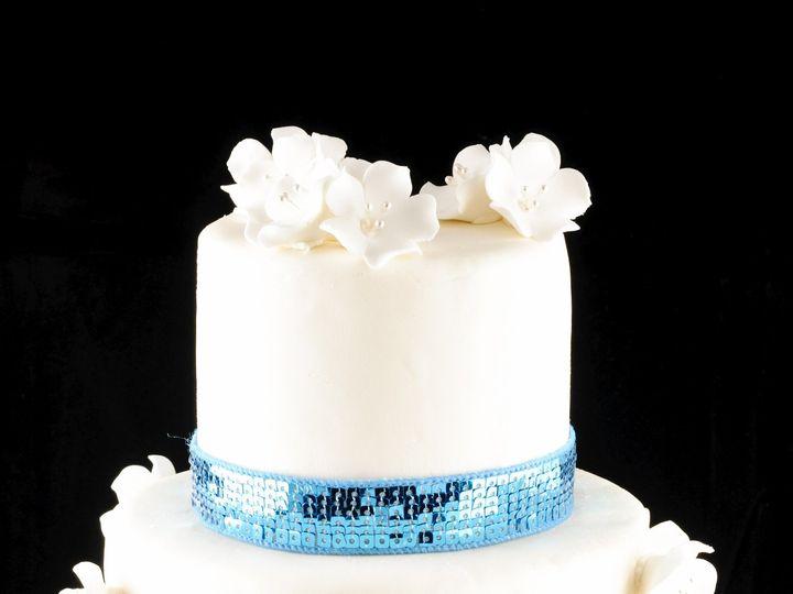 Tmx 1399400479802 Plain Flower Jackson Heights wedding cake