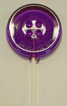 Button Shaped Hard Candy Lollipop