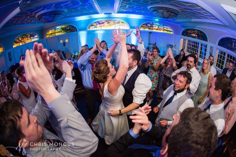 Hands up dancing